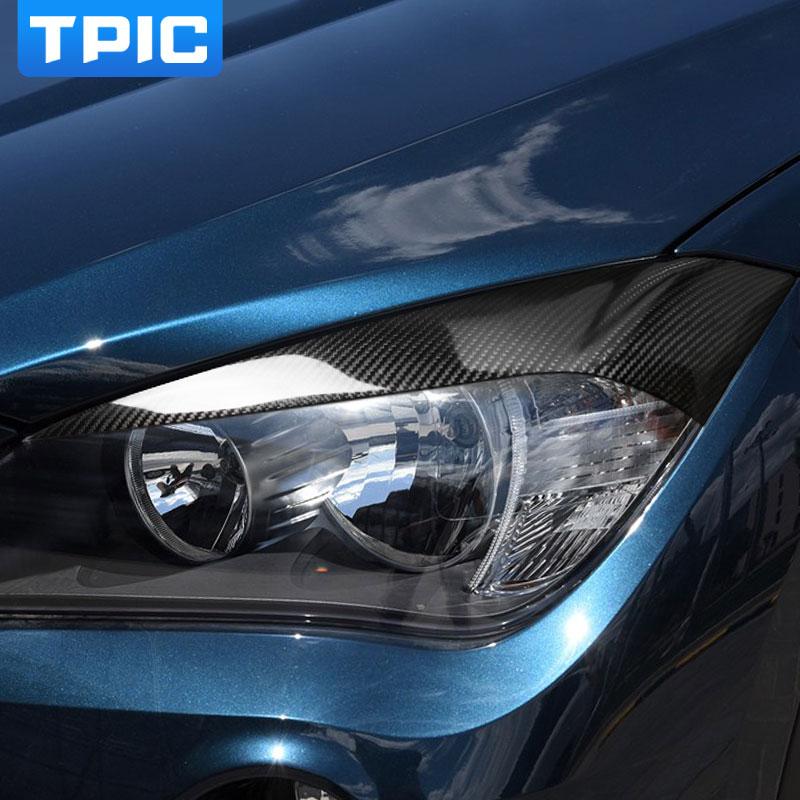Eyebrows headlight spoiler for BMW E60 E61 lightbrows eye lids brows covers SET