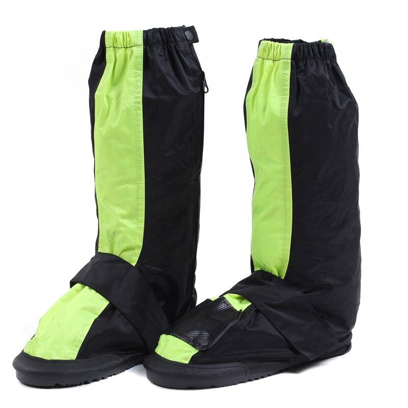 CHCYCLE riutilizzabile Impermeabile copertura di scarpe moto ciclismo stivali da pioggia moto equitazione scarpe covers antiscivolo con riflettori