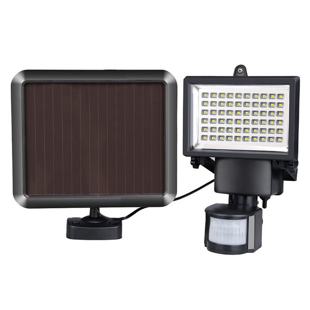 60LED Solar Powered PIR Body Motion Sensor Solar Lights Lamp Wall Garage Path Garden Light Outdoor Security Flood Light  цены
