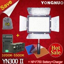 Yongnuo YN300 II YN-300 ll Pro из светодиодов видео + NP-F750 батарея + зарядное устройство