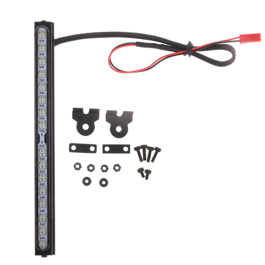 Lámpara de barra de luz LED para techo RC 32 tira de barra de luz LED para 1:8 1:10 RC camión de orugas TRX4 90046
