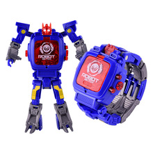 Deformation Robot Children Watch Transformers Electronic Kids Watches Baby Educational Toys Digital Wristatches Boy Girl Clock F