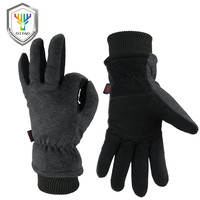 OZERO Winter Warm Men S Gloves Deerskin Work Driver Windproof TPU Security Protection Wear Safety