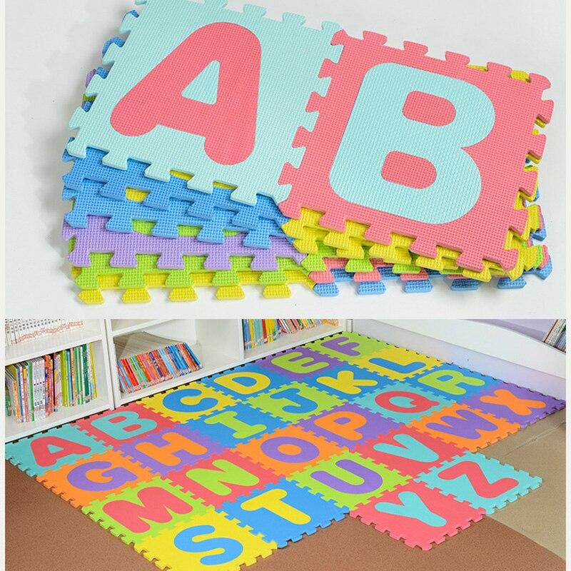 26 pièces/ensemble 30*30*0.9 CM EVA mousse bébé tapis de jeu Split Joint Puzzle tapis bébé chambre tapis de sol 26 lettres tapis de jeu bébé tapis rampant