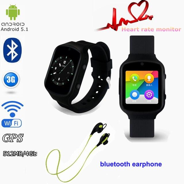 Мода Стиль Z80 Android 5.1 1.54 Дюймов 3 Г Smart Watch Phone MTK6580 512 МБ + 4 ГБ Очаг Rate Testing мобильный Наручные Часы