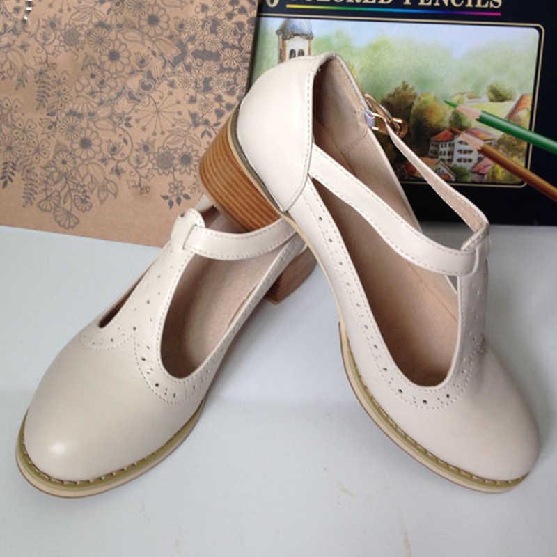 Frauen sandalen oxford schuhe vintage echtem leder high heels gladiator oxfords sommer plattform sandalen für frauen hausschuhe 2019