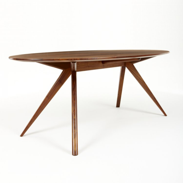 walnut furniture solid wood dining table 16 18 m round table conference table designer minimalist