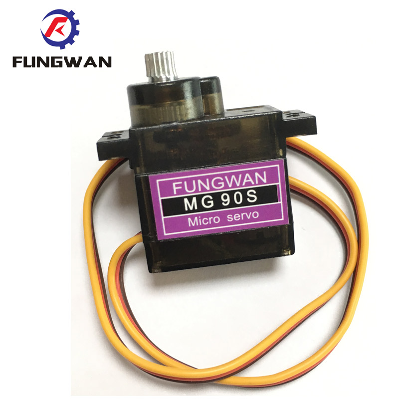 Mg90s Micro Metal Gear High Speed 9g Servo For Rc Helicopter Plane Car Boat