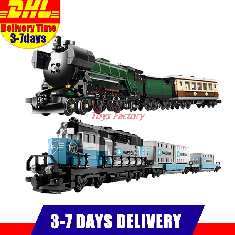 LEPIN 21005 Emerald Night Train Expert +LEPIN 21006 Maersk Train Model Building Blocks Bricks Set Clone 10219 10194
