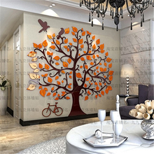 Orange / Green / Pink / Red Leaves Tree Wall Stickers