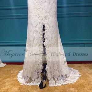 Image 4 - Mryarce vestido elegante Bohemia boda, espalda abierta, encaje elástico suave, favorecedor, abertura frontal, novia Bohemia