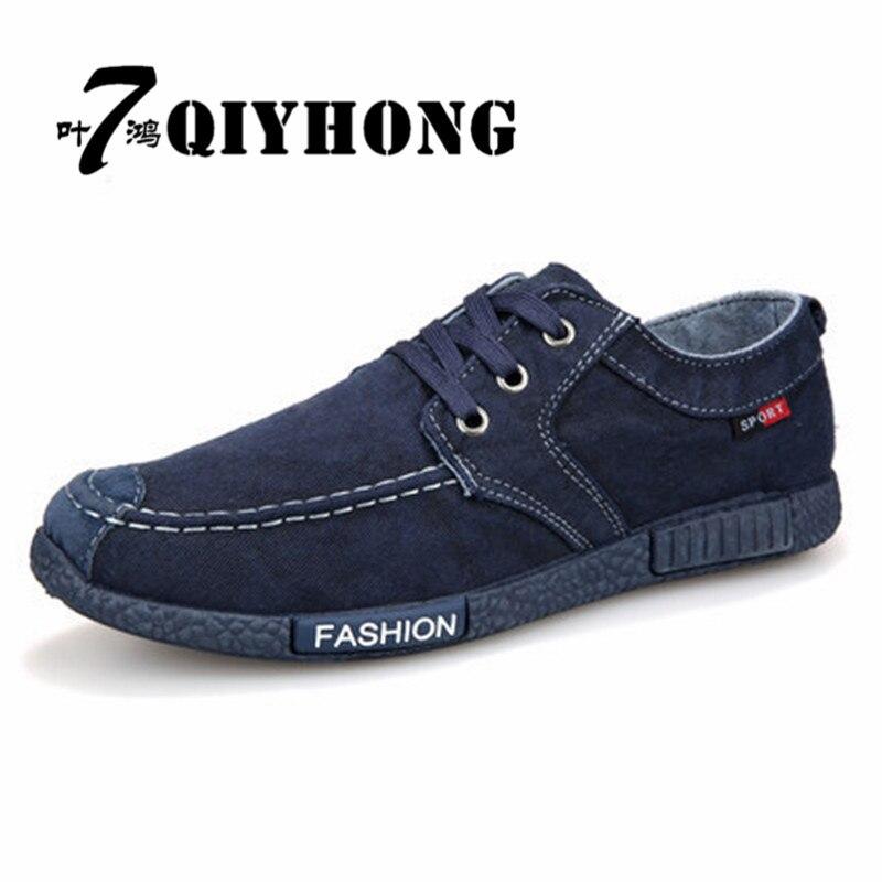 Gehemmt Selbstbewusst Unsicher Befangen Verlegen Qiyhong 2017 Frühling Neue Mode Männer Leinwand Schuhe Luxus Marke Komfortable Männer Vulkanisierte Schuhe 39-44 100% Garantie