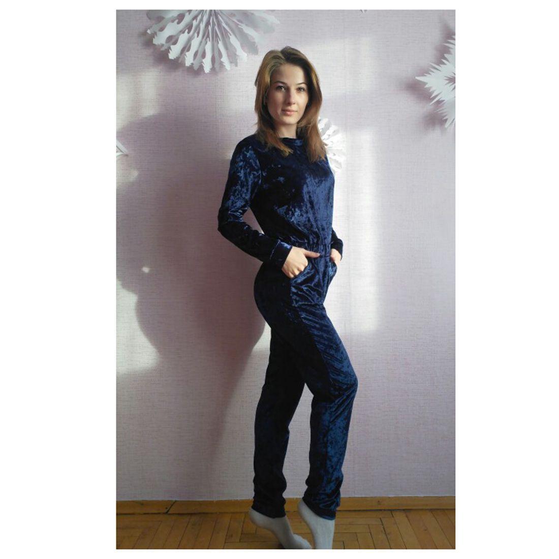2017 KSFS Fashion Womens velvet Round neck Long sleeves Jumpsuit Black Blue Grey Purple Khaki