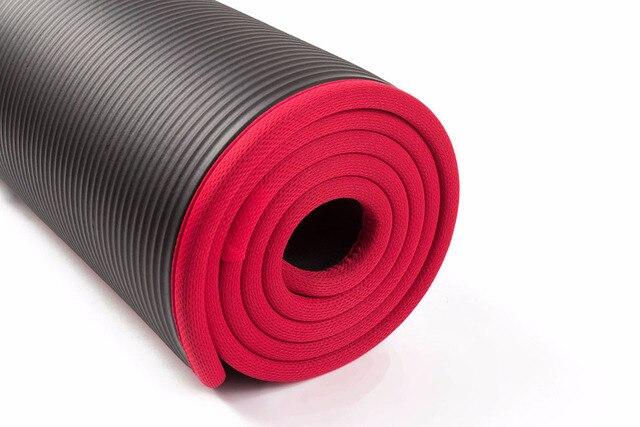 10MM Extra Thick 183cmX61cm High Quality NRB Non-slip Yoga Mats 3