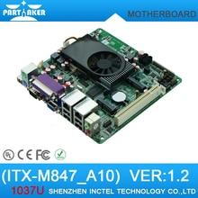 Long-term supply Celeron dual-network POS 1037U mini itx motherboard M847_A10 i3-grade DDR3 dual Gigabit LAN 10RS232 2 RS485 ATX
