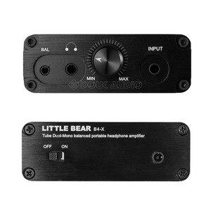 Image 2 - Nobsound mały miś B4 X przenośny dwu mono rura próżniowa wzmacniacz słuchawkowy zbalansowany BLK
