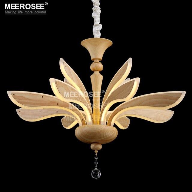 Creative led chandelier lighting acrylic led wooden lamp new design lustre hanging lamparas de techo light