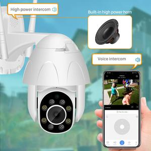 Image 5 - Cloud 1080P PTZ WIFI IP Camera Auto Tracking 2MP Waterproof CCTV Security Camera 4X Digital Zoom Speed Dome Wireless IP Camera