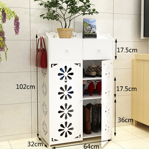 Image 3 - Europejski stojak na buty prosta wielowarstwowa pyłoszczelna stojak na buty nowoczesna szafka na buty o dużej pojemności organizer na obuwie półki DIY