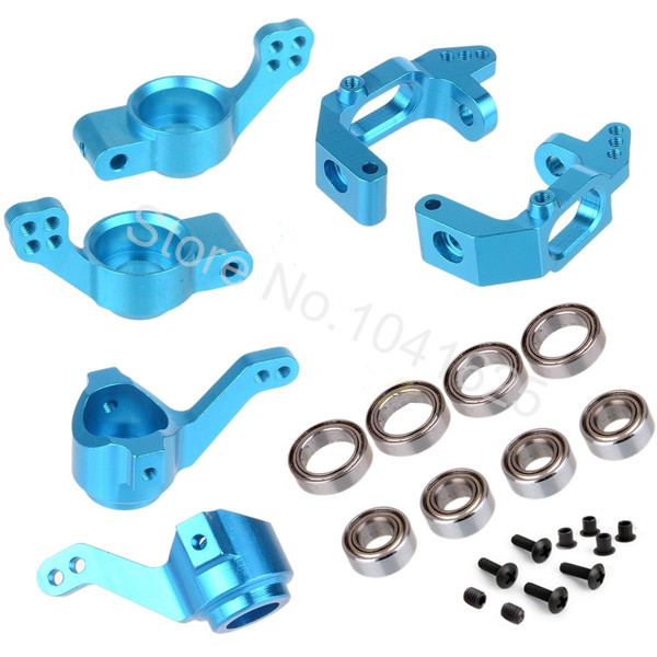 HSP BRONTOSAURUS Upgrade Parts Aluminum Steering Hub 102210 102211 102212 102010 102011 102012 For 1/10 RC Monster Truck Buggy aluminum steering knuckle hub kit lower susp arm ball bearing for rc wltoys a979 1 18 off road monster truck upgrade parts