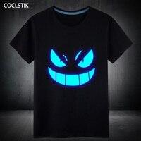 100 Cotton Mens Summer New Short T Shirt Blue Fluorescent Vetement Homme T Shirts Men Tshirt