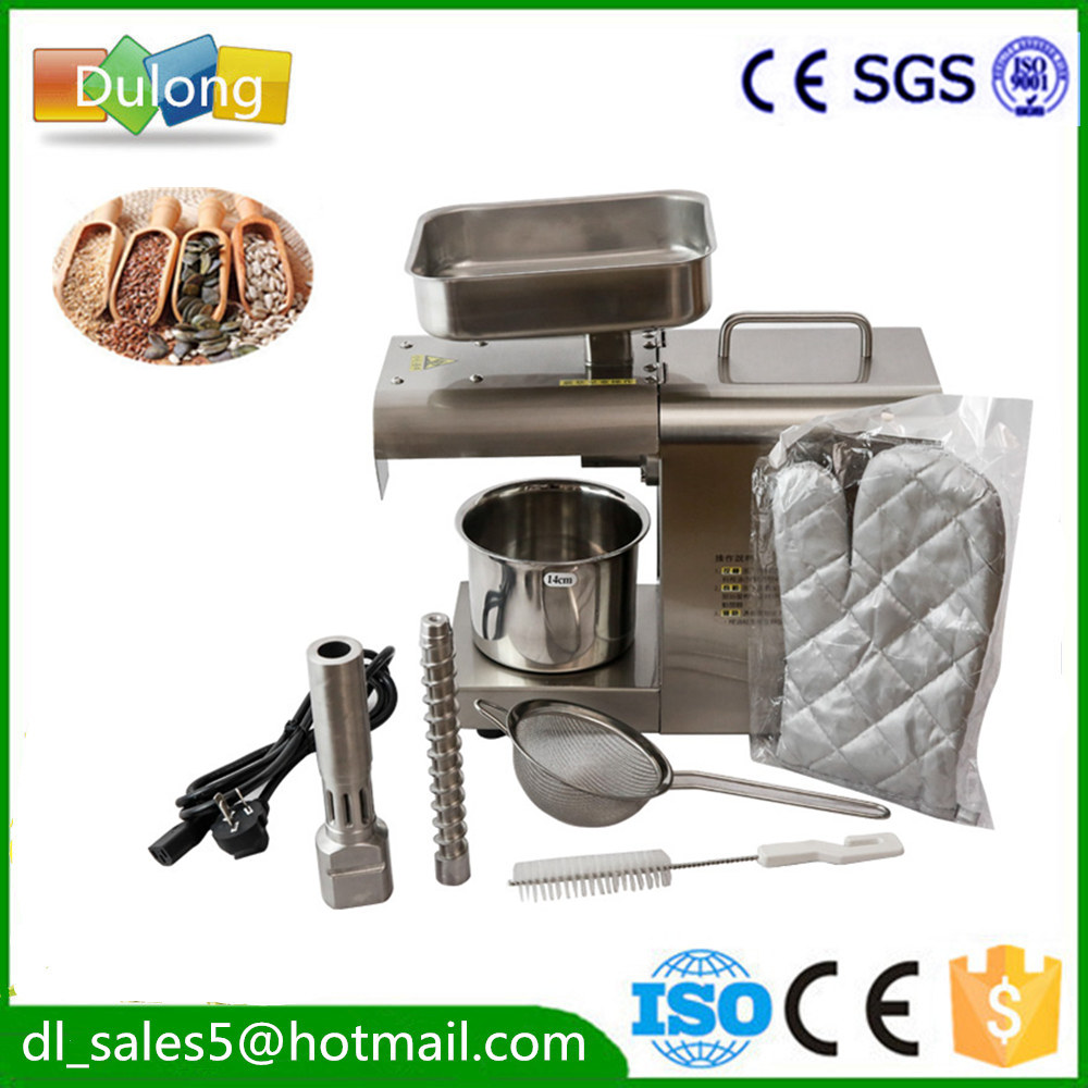 350W 220V Mini Oil Press Machine seed Peanut Oil Press Machine With English Manual Oil expeller