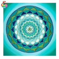 2016 DIY 5D Diamond Mosaic Religion Mandala Diamond Painting Cross Stitch Kits Diamonds Embroidery Home Decoration