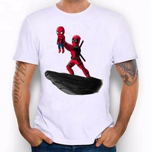 Round neck T-shirt Marvel Spider-man mens cute happy summer fitness sports casual hot New 2019