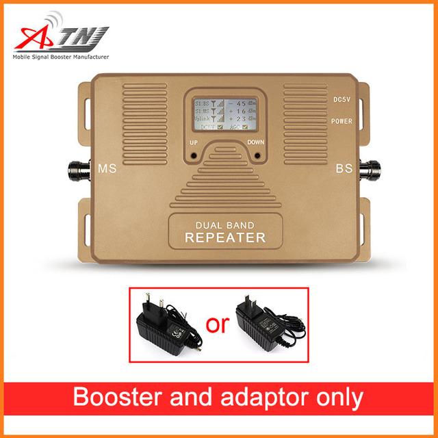 De Calidad superior! doble banda de 2G, 3G de 850 mhz y 2100 mhz, repetidor amplificador de señal móvil 2g + 3g amplificador de señal celular único Dispositivo