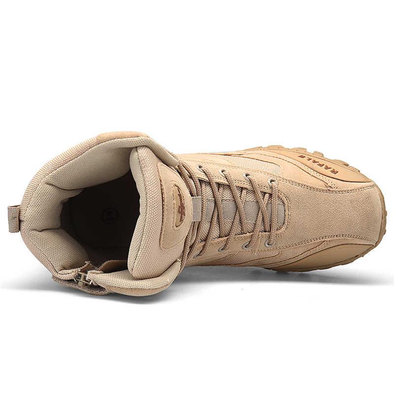 Winter Militaire Laarzen Mannen 2018 Fashion Army Laarzen Heren Tactische Desert Combat High Top Enkellaarsjes Mannen Outdoor Werk schoenen Mannen