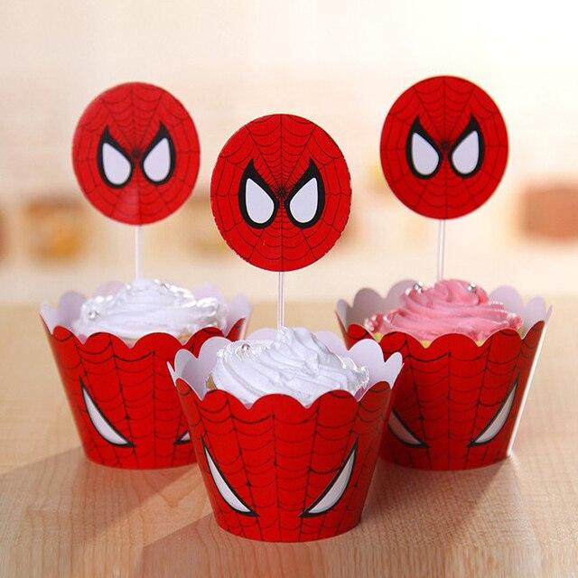 Grosshandel Spiderman Junge Kuchenkasten Wrapper Kuchen Deckel
