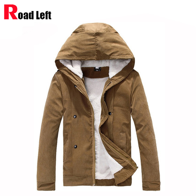 2016 Winter Warm Coats Men Casual Hooded Padded Jacket Mens Thicken Cotton Parkas Outerwear Overcoat Size 3XL Chaqueta Hombre