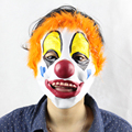 JOY MAGS Helloween Decoration Pretend Play Cosplay Toy Clown Mask with Gold Dust