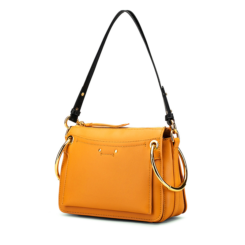 Large Saddle Shoulder Bags For Women 2018 Top-handle Bags Ring Luxury Handbags Women Bags Designer Split Leather Bolsa Feminina new luxury handbags women bags designer trapezoid caviar split leather fashion vintage crossbody bags for women bolsa feminina