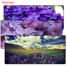 Mairuige Beautiful lavender Flowers Large Mouse Pad Overlock Edge Big Gaming mouse Send BoyFriend the Best Gift 400*900*3MM