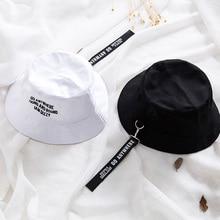 New Flat Fishman Hat Summer embroider Letter Vintage Black Bucket Men Women Hip Hop Fishing Cap Sprot Chapeau Panama Sun hat