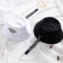 fd35790fbcf New Flat Fishman Hat Summer embroider Letter Vintage Black Bucket Hat Men  Women Hip Hop Fishing