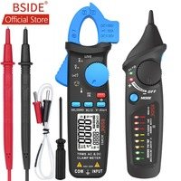 BSIDE ACM91 Digital Clamp Meter AC/DC Current 1mA True RMS Auto Range Live Check NCV Temp Frequency Capacitor Tester Multimeter
