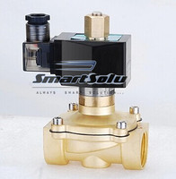 Free Shipping 1pcs 3 4 Normally Open Brass Electric Solenoid Valve 2W200 20 NO DC12V DC24V