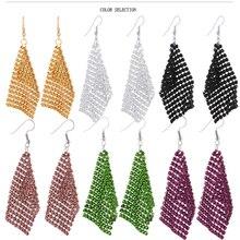 Cacana brincos longos banhado a ouro brincos pendurados para as mulheres borla bohemia estilo moda bijuteria venda quente no. a501(China (Mainland))