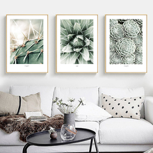 Succulents Posters And Prints Nordic Poster Cactus Wall Art Canvas Painting Leaf Pictures For Living Room Modern Picture