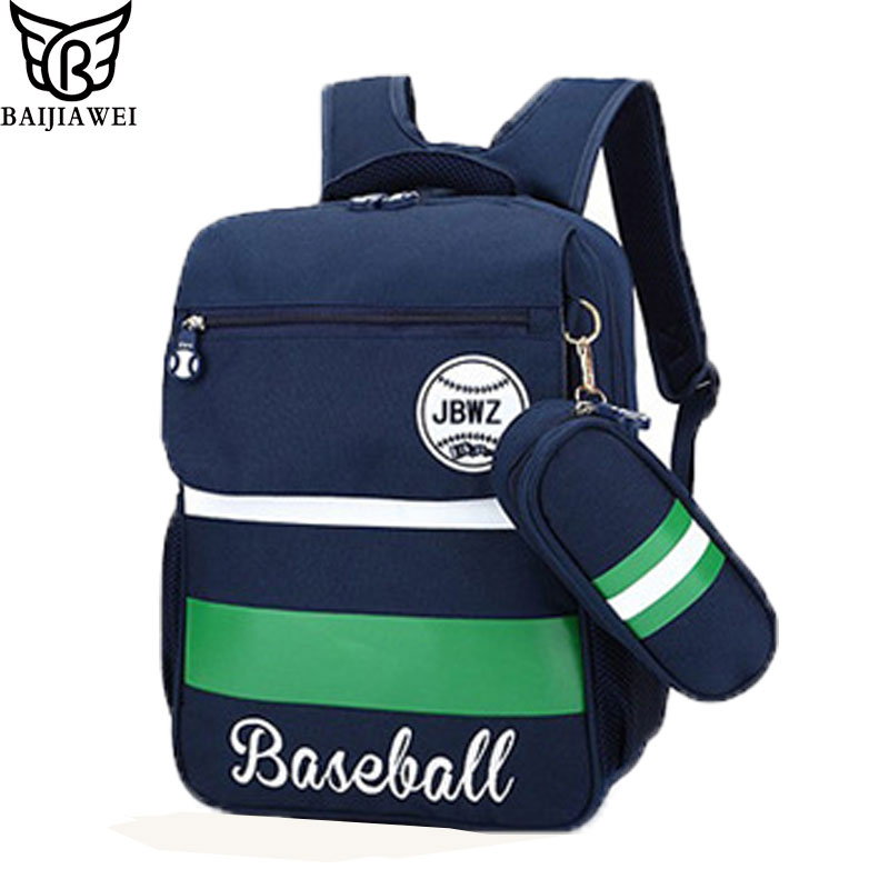BAIJIAWEI Schoolbags Kids Satchel Child School Backpack EVA Folded Orthopedic Children School Bags For Teenager Mochila Infantil