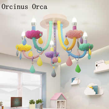 Creative Colorful Crystal ceiling lamp Princess Room Girl\'s Bedroom Children\'s Room Lights Cartoon LED Dream Glass ceiling lamp - Category 🛒 Lights & Lighting