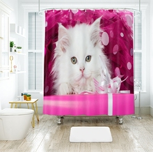 3d Small Cat Shower Curtains Beauty Pink Gift Bathroom Curtain Thicken Waterproof Thickened Bath Curtain занидип рекордати 20 мг 28 табл
