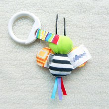 high quality Baby carriage and crib pendant Rattle / Ring paper/ Label Lovely colored bees toy for baby girls 0-24 months