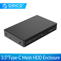 ORICO Full Mesh HDD Enclosure 3.5 inch SATA to USB C Adapter External Hard Drive Case Reader for SSD Disk Type C HDD Box Case HD