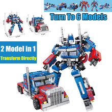 Transformation 2in1 Robot Car Truck fit technic robot city Building Blocks bricks Models kid toys for children gift