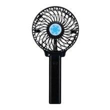 Портативный USB вентилятор кулер портативный маленький вентилятор Аккумулятор Перезаряжаемый складной удобный маленький настольный USB вентилятор охлаждения черный