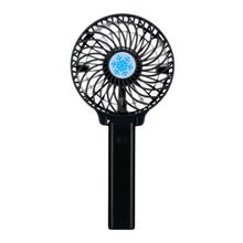 Handheld USB Fan Cooler Portable Mini Battery Operated Rechargeable Foldable Handy Small Desk Desktop Cooling Black
