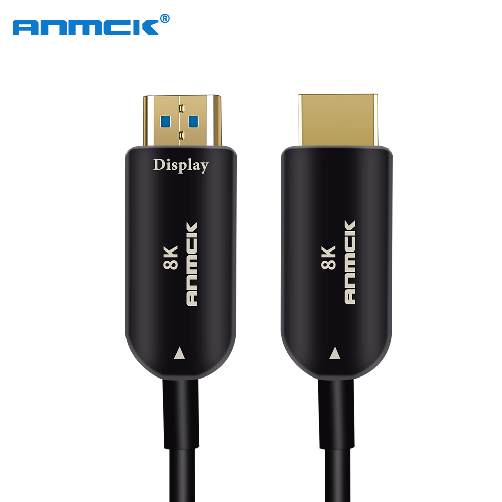 Anmck Optical Fiber HDMI Cable 2 1 Ultra HD Wire 8K 48Gbps With Audio Ethernet HDMI